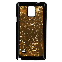Festive Bubbles Sparkling Wine Champagne Golden Water Drops Samsung Galaxy Note 4 Case (black)
