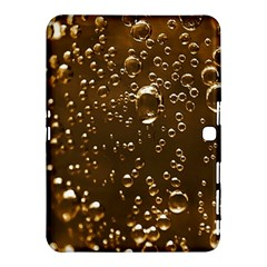 Festive Bubbles Sparkling Wine Champagne Golden Water Drops Samsung Galaxy Tab 4 (10.1 ) Hardshell Case