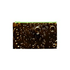 Festive Bubbles Sparkling Wine Champagne Golden Water Drops Cosmetic Bag (XS)