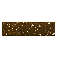 Festive Bubbles Sparkling Wine Champagne Golden Water Drops Satin Scarf (oblong)
