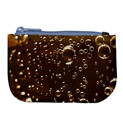 Festive Bubbles Sparkling Wine Champagne Golden Water Drops Large Coin Purse