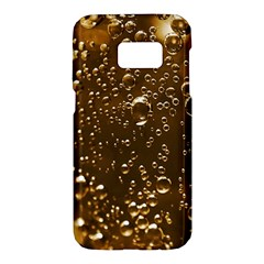 Festive Bubbles Sparkling Wine Champagne Golden Water Drops Samsung Galaxy S7 Hardshell Case