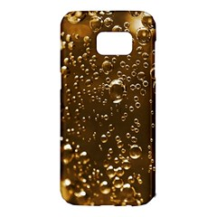 Festive Bubbles Sparkling Wine Champagne Golden Water Drops Samsung Galaxy S7 Edge Hardshell Case
