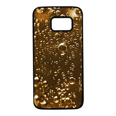 Festive Bubbles Sparkling Wine Champagne Golden Water Drops Samsung Galaxy S7 Black Seamless Case
