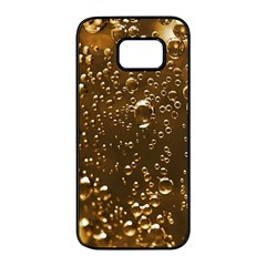 Festive Bubbles Sparkling Wine Champagne Golden Water Drops Samsung Galaxy S7 edge Black Seamless Case