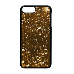 Festive Bubbles Sparkling Wine Champagne Golden Water Drops Apple iPhone 7 Plus Seamless Case (Black)