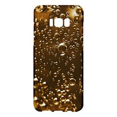 Festive Bubbles Sparkling Wine Champagne Golden Water Drops Samsung Galaxy S8 Plus Hardshell Case