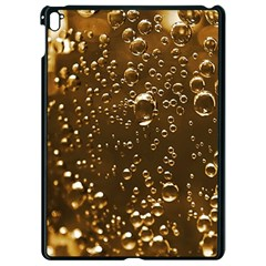 Festive Bubbles Sparkling Wine Champagne Golden Water Drops Apple iPad Pro 9.7   Black Seamless Case