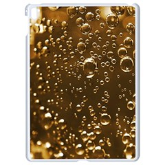 Festive Bubbles Sparkling Wine Champagne Golden Water Drops Apple iPad Pro 9.7   White Seamless Case
