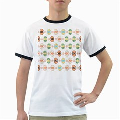 Cute Eggs Pattern Ringer T-Shirts