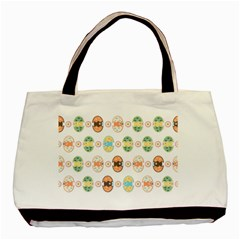 Cute Eggs Pattern Basic Tote Bag (Two Sides)