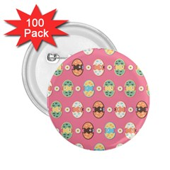 Cute Eggs Pattern 2.25  Buttons (100 pack)