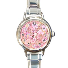 Lovely Floral 36a Round Italian Charm Watch