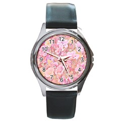 Lovely Floral 36a Round Metal Watch
