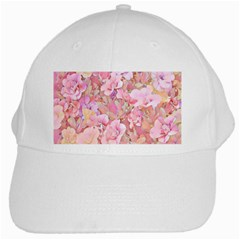 Lovely Floral 36a White Cap