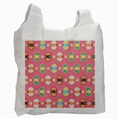 Cute Eggs Pattern Recycle Bag (Two Side)