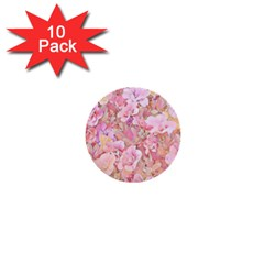 Lovely Floral 36a 1  Mini Buttons (10 pack)
