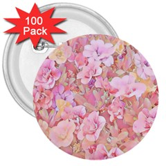 Lovely Floral 36a 3  Buttons (100 pack)