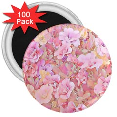 Lovely Floral 36a 3  Magnets (100 pack)