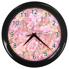 Lovely Floral 36a Wall Clocks (Black)