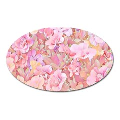 Lovely Floral 36a Oval Magnet