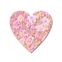 Lovely Floral 36a Heart Magnet