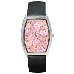 Lovely Floral 36a Barrel Style Metal Watch