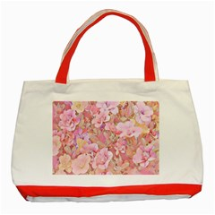 Lovely Floral 36a Classic Tote Bag (Red)