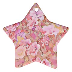 Lovely Floral 36a Star Ornament (Two Sides)