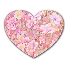 Lovely Floral 36a Heart Mousepads