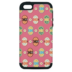 Cute Eggs Pattern Apple iPhone 5 Hardshell Case (PC+Silicone)
