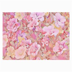 Lovely Floral 36a Large Glasses Cloth