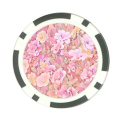 Lovely Floral 36a Poker Chip Card Guard
