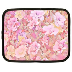 Lovely Floral 36a Netbook Case (Large)