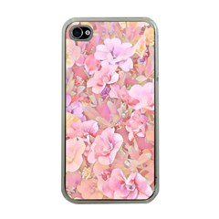 Lovely Floral 36a Apple iPhone 4 Case (Clear)
