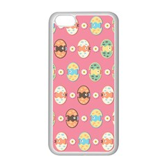 Cute Eggs Pattern Apple iPhone 5C Seamless Case (White)