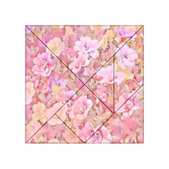 Lovely Floral 36a Acrylic Tangram Puzzle (4  x 4 )