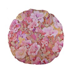 Lovely Floral 36a Standard 15  Premium Round Cushions