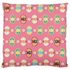 Cute Eggs Pattern Large Flano Cushion Case (Two Sides)