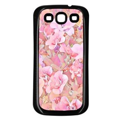 Lovely Floral 36a Samsung Galaxy S3 Back Case (Black)