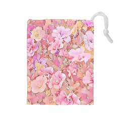 Lovely Floral 36a Drawstring Pouches (Large)
