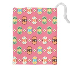 Cute Eggs Pattern Drawstring Pouches (XXL)