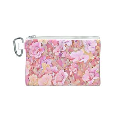 Lovely Floral 36a Canvas Cosmetic Bag (S)