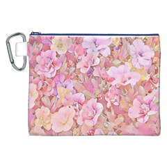 Lovely Floral 36a Canvas Cosmetic Bag (XXL)