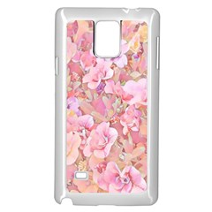 Lovely Floral 36a Samsung Galaxy Note 4 Case (White)