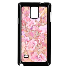 Lovely Floral 36a Samsung Galaxy Note 4 Case (black)