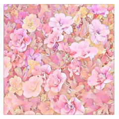 Lovely Floral 36a Large Satin Scarf (Square)