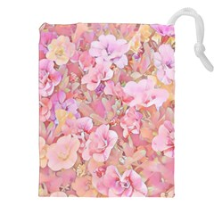 Lovely Floral 36a Drawstring Pouches (XXL)