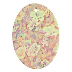 Lovely Floral 36b Ornament (Oval)
