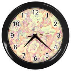Lovely Floral 36b Wall Clocks (Black)